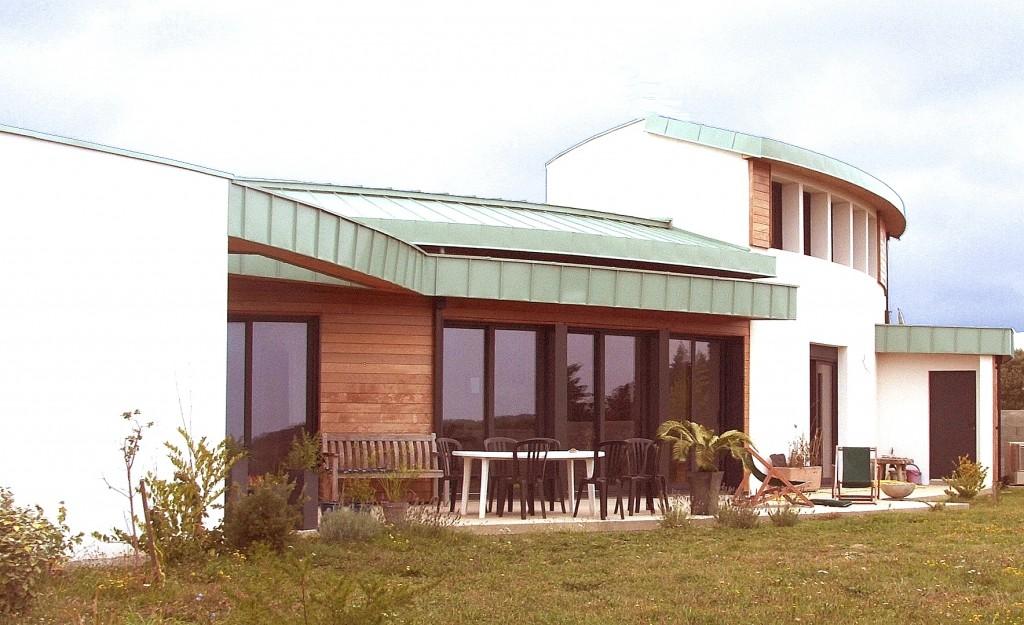 Maison Bois et Thermopierre Bioclimatique Vendée