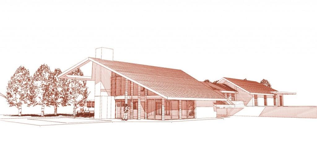 maison contemporaine perspective sud-ouest