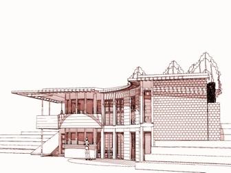 Maison Bioclimatique Bois et Brique
