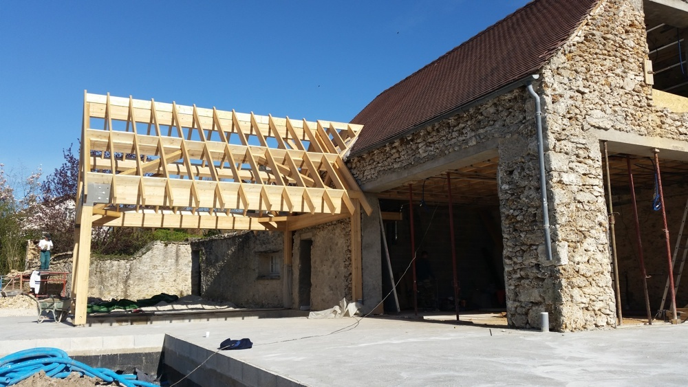 R novation en vall e de chevreuse architecture maison for Renovation facade maison ancienne