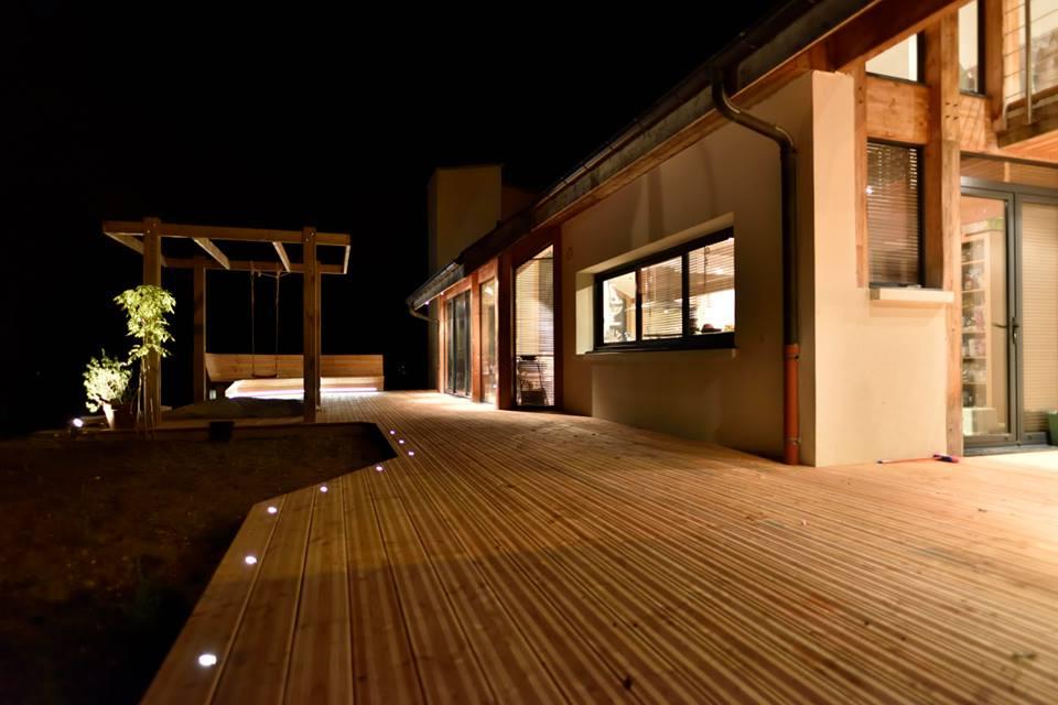 La terrasse vue nocturne