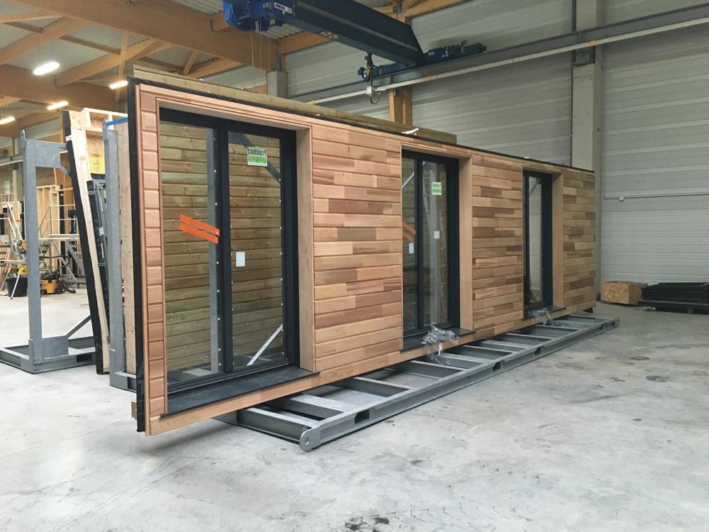 Fabrication en atelier des murs prêts à poser du 1° au 15 avril 2016