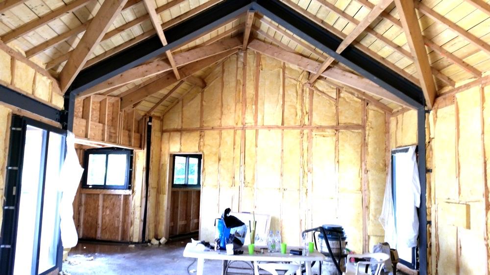 21 Juin 2016 Démarrage des travaux d'isolation intérieure