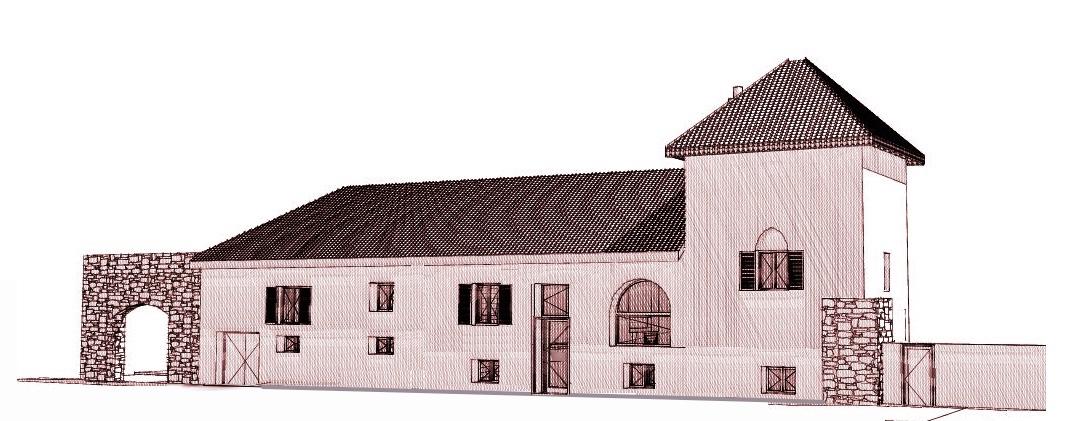 Ouvertures créées en façade d'accés