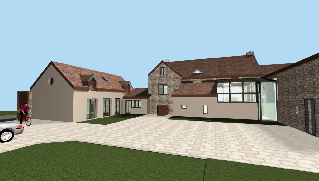 Rénovation d'une ferme en Bourgogne